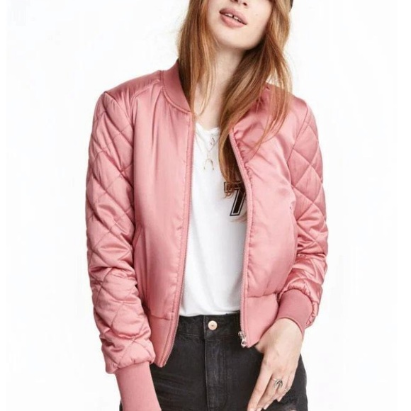 LF Jackets & Blazers - Pink LF stores quilted bomber